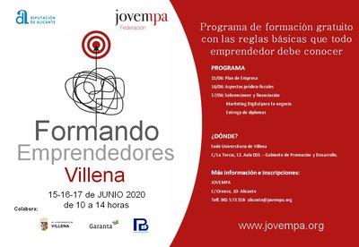 Formando a emprendedores en Villena