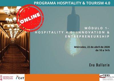 Programa 1ª sesión CdT- Hospitality 4.0: Innovation & Entrepreneurship