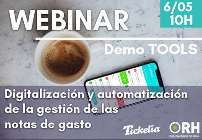 Webinar: Digitalización y automatización de la gestión de las notas de gasto