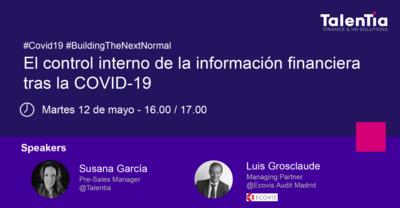 Webinar: El control interno de la información financiera tras la COVID-19