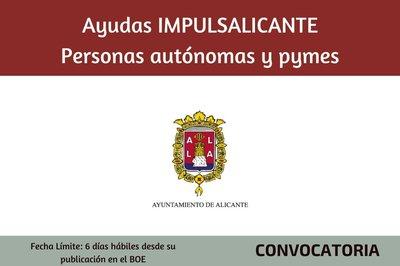 Ayudas Impulsalicante para personas autónomas y Pymes