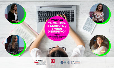 "Webinar: ""4 Mujeres , 3 startups  y 1 virus disruptivo"""