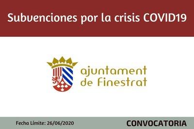 Ayudas por la Crisis sanitaria Covid-19 Ayuntamiento de Finestrat