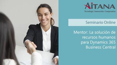 Webinar Mentor, la solución de recursos humanos para Dynamics 365 Business Central