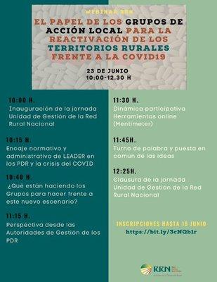 El papel de los Grupos de Acción Local para la reactivación de los territorios rurales frente a la crisis del COVID19