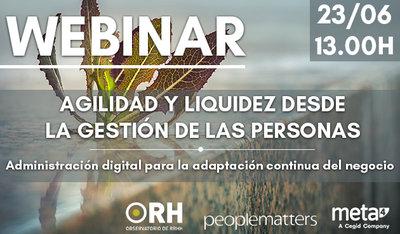 """Webinar: """"Agilidad y liquidez desde la gestión de personas"""""""