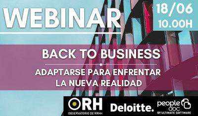 Webinar - Back to business: adaptarse para enfrentar la nueva realidad
