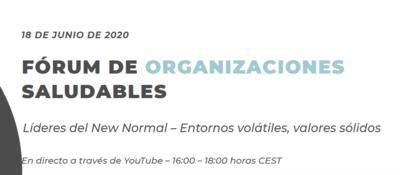 'Fórum de Organizaciones Saludables' -Edición XIV