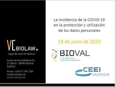 Ponencia: La incidencia del COVID-19 en la protección y utilización de los datos personales