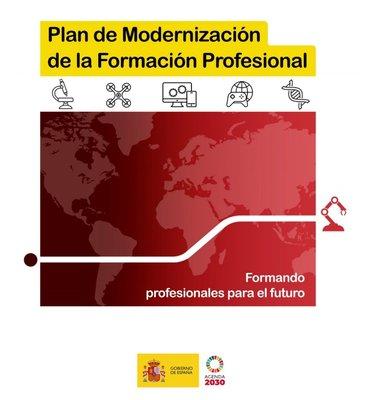 Cartel Plan Modernización Formación Profesional