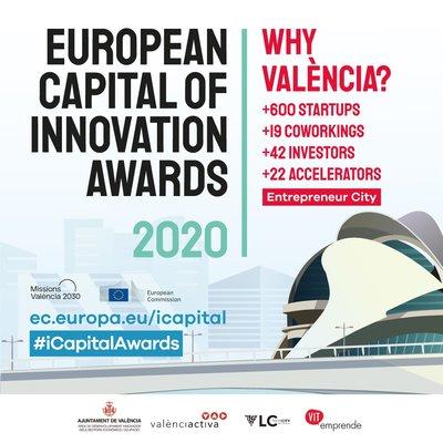 Valencia finalista como Ciudad Europea de la Innovación 2020