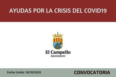 Subvenciones por la Crisis sanitaria Covid-19 Ayuntamiento de El Campello