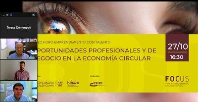 Primer foro del Ciclo dedicado a la Economía Circular y Sostenibilidad