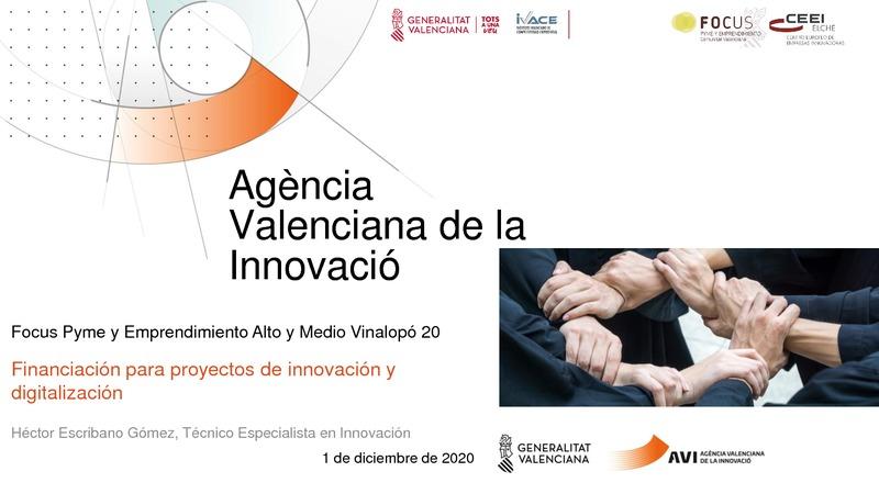 Financiación para proyectos de innovación y digitalización - AVI