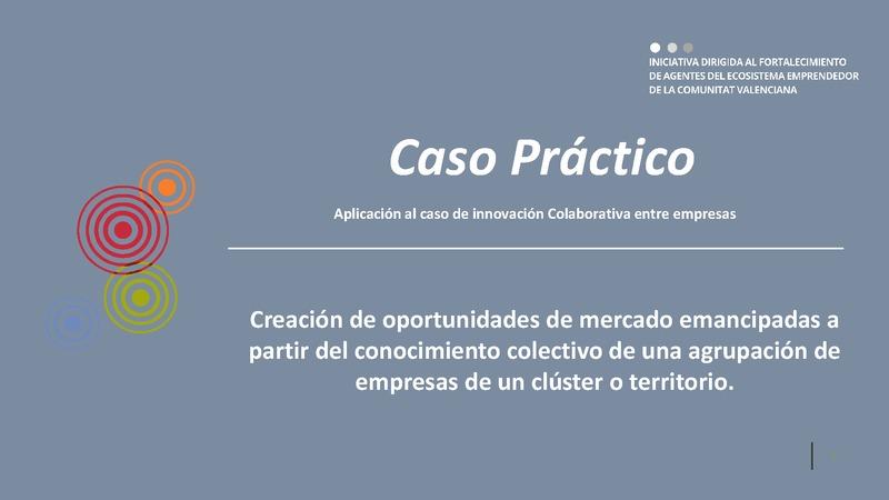 CASO TRANSVERSAL 08 Innovación colaborativa: Agrupación Empresas II