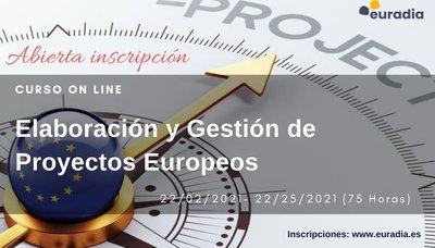 curso on line Elaboracion y Gestión de Proyectos Europeos