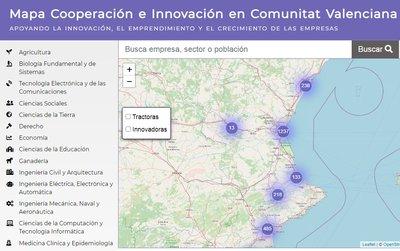 Mapa Cooperación e Innovación en Comunitat Valenciana