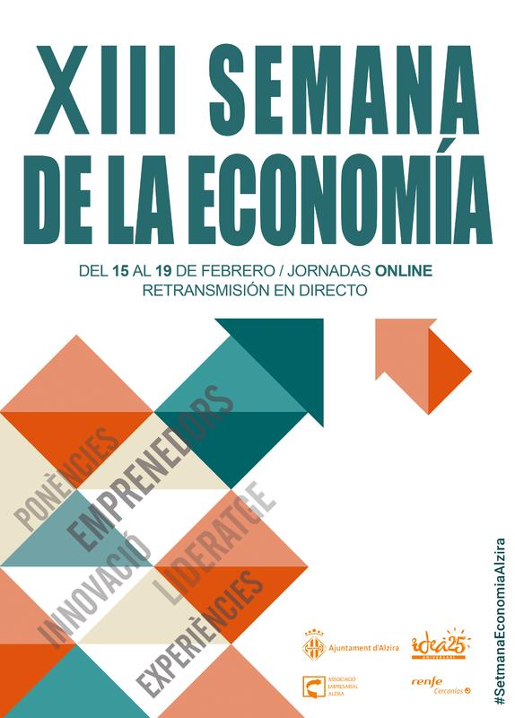 La XIII Semana de economía de Alzira del 15 al 19 de febrero tendrá retransmisiones en directo por zoom
