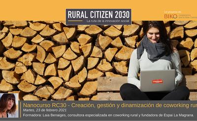 Curso online: Cómo gestionar un coworking rural