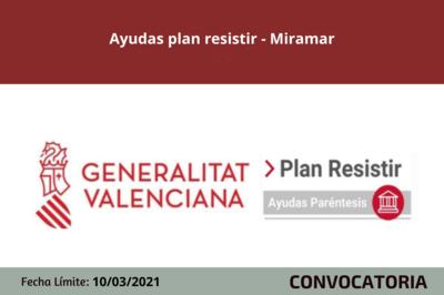"Ayudas ""Plan Resistir"" en Miramar"