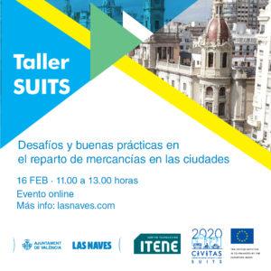 """Taller SUITS: """"Desafíos y buenas prácticas en el reparto de mercancías en las ciudades"""""""