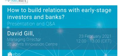 Webinar: Cómo entablar relaciones con inversores y bancos en la etapa inicial