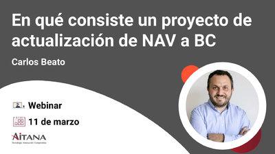 Webinar En qué consiste un proyecto de actualización de NAV a Business Central