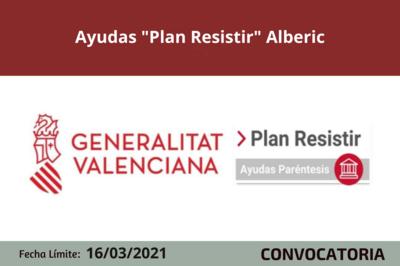 """Ayudas """"Plan Resistir"""" en Alberic"""