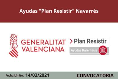 "Ayudas ""Plan Resistir"" en Navarrés"