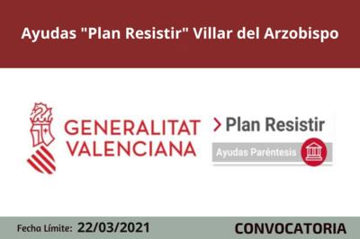 """Ayudas """"Plan Resistir"""" en Villar del Arzobispo"""