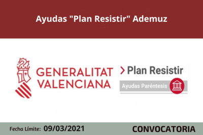"Ayudas ""Plan Resistir"" Ademuz"