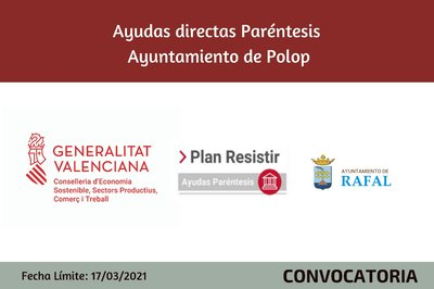 Ayudas Económicas Covid 19 - Ayuntamiento de Rafal