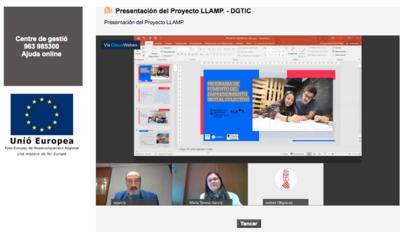La Dirección general de Emprendimiento y Cooperativismo y Florida Universitària presentan el Proyecto Llamp Digital