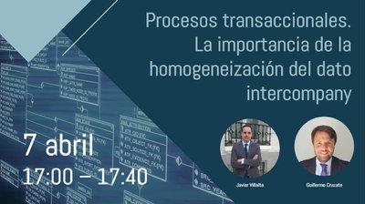 Webinar Procesos transaccionales. La importancia de la homogeneización del dato intercompany