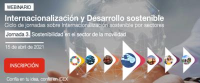 3ª Jornada Internacionalización y Desarrollo sostenible: Sostenibilidad en el sector de la movilidad