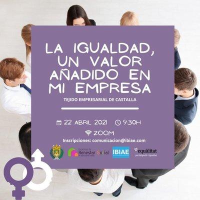 Webinar: La Igualdad, un valor añadido en mi empresa