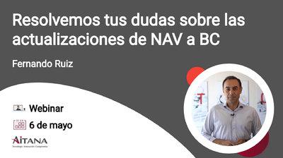 Webinar Resolvemos tus dudas sobre las actualizaciones de Dynamics NAV a Business Central