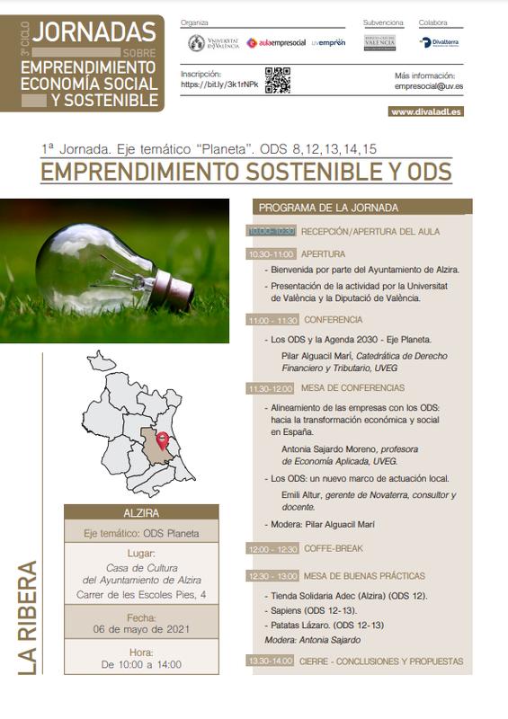 Emprendimiento Sostenible y ODS- Alzira (La Ribera)