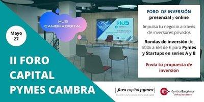 II Foro Capital Pymes Cambra de Comerç de Barcelona