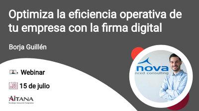 Webinar Optimiza la eficiencia operativa de tu empresa con la firma digital
