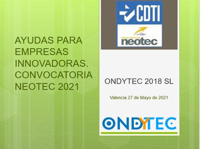 Experiencia de ONDYTEC en NEOTEC