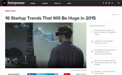16 Startup Trends That Will Be Huge in 2015