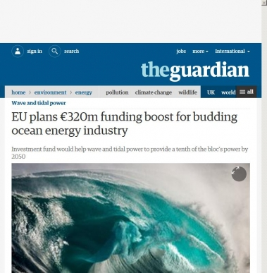 EU plans €320m funding boost for budding ocean energy industry
