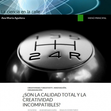 ¿Son la calidad total y la creatividad incompatibles? by Ana Mari­a Aguilera