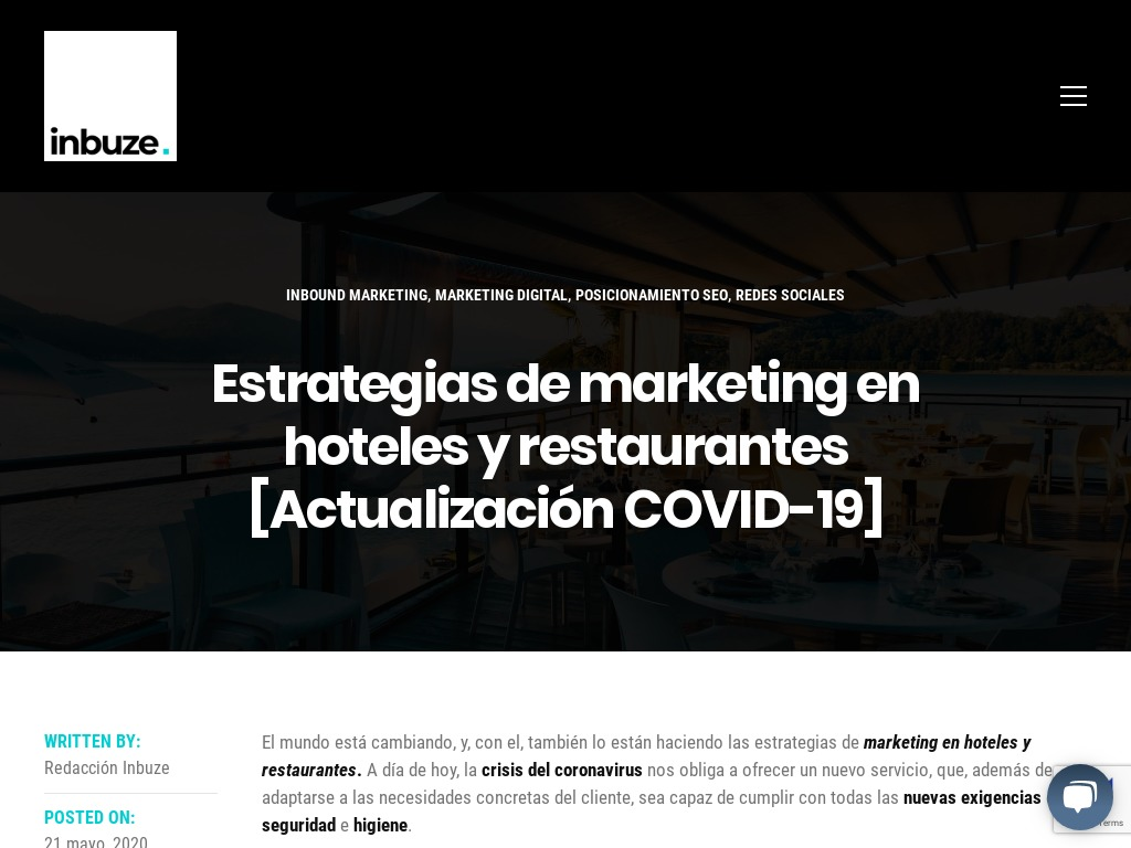 Estrategias de marketing en hoteles y restaurantes | Inbuze